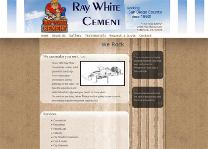 Ray White Cement website